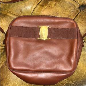 Brown Leather Ferragamo Crossbody